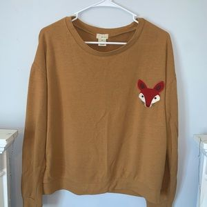 Wet Seal Fox Crew Neck